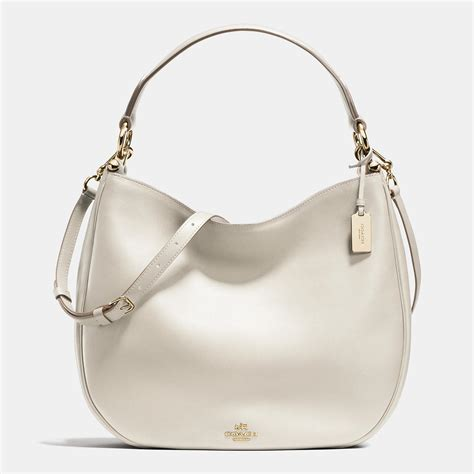 Coach Nomad Hobo 2035 26 coach chalk nomad glovetanned leather magnetic snap