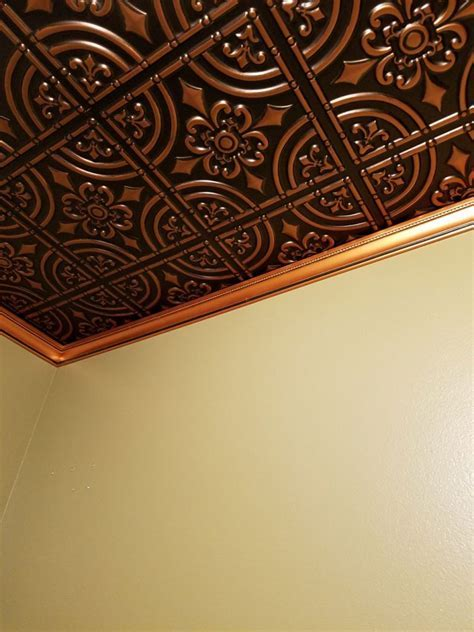 Wrought Iron ? Faux Tin Ceiling Tile ? Glue up ? 24?x24