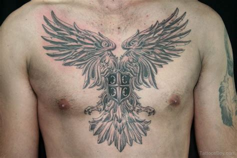 tribal chest piece tattoos eagle chest
