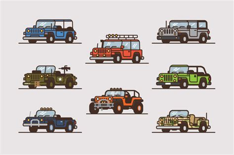 jeep illustration stock graphic vector jeep illustration collection
