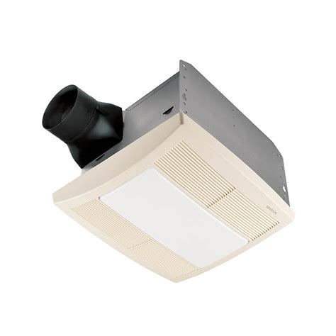 Shop Broan 0 8 Sone 80 Cfm White Bathroom Fan With Light Light Fan Bathroom