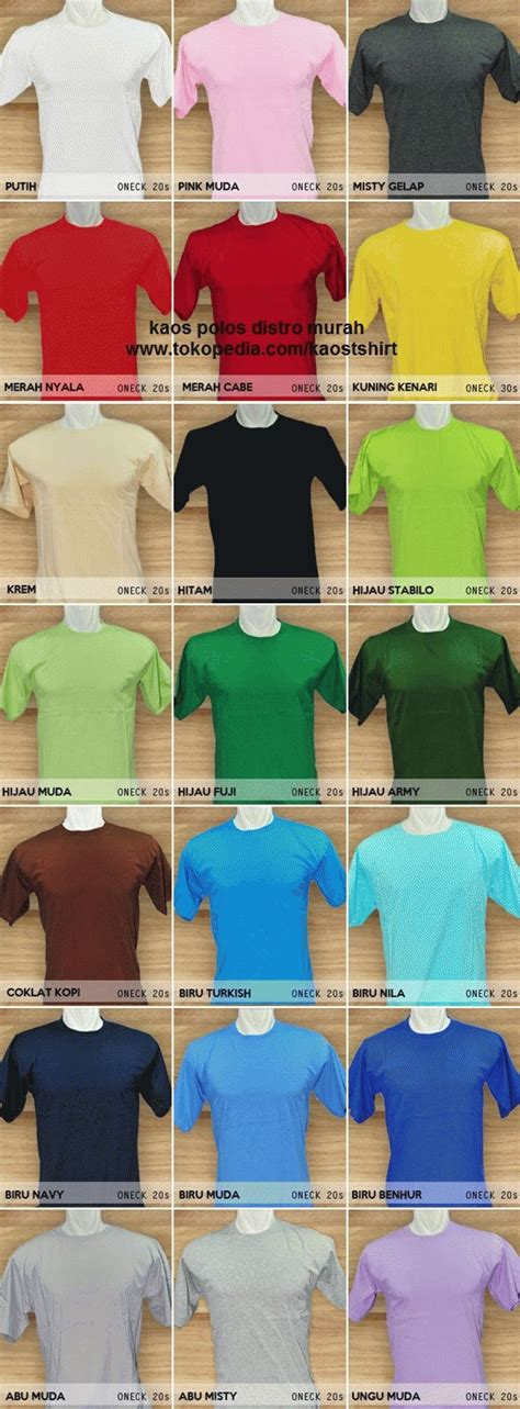 Kaos Ml jual kaos polos warna o neck pendek size ml all size