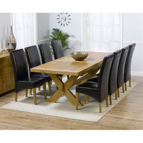 buy cheap oak dining table and 8 chairs compare
