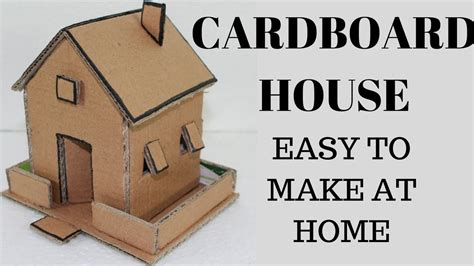 How To Make A Small Paper House - diy cardboard house how to make small cardboard house
