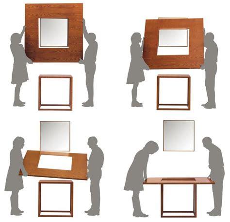 tavoli per piccoli spazi besquare un grande tavolo per piccoli spazi designbuzz it