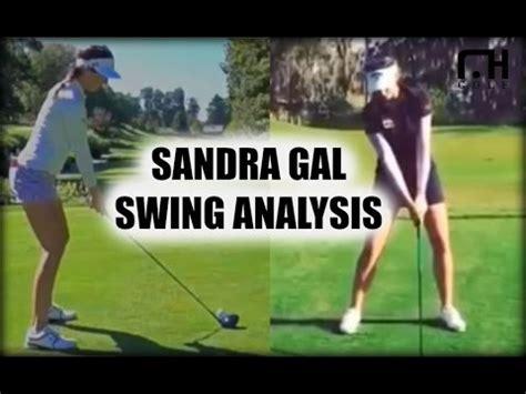 sandra gal golf swing sandra gal swing analysis youtube