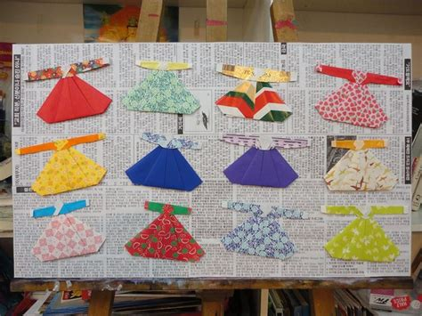 Korean Origami - an origami hanbok picture made by me hanbok korean
