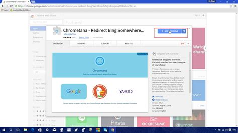 why im dumping google chrome extremetech chrome web store bing search extension google autos weblog
