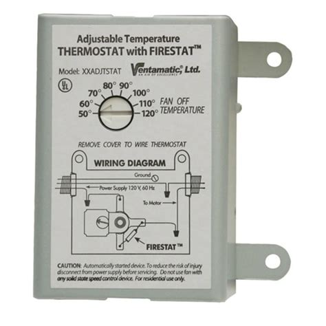 thermostat fan setting circulate master flow attic fan thermostat wiring diagram circuit