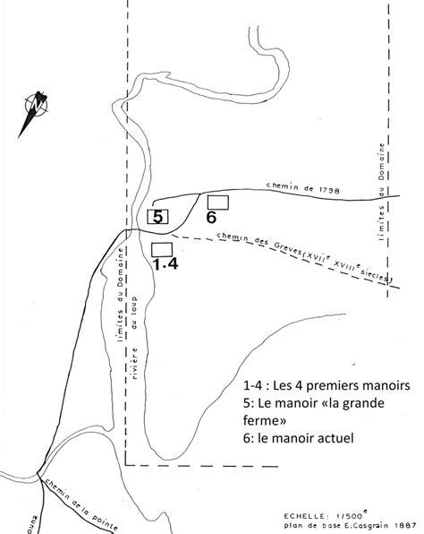 L'emplacement des manoirs dans le domaine seigneurial