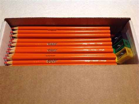 50 crayola colored pencils 50 crayola colored pencils orange bulk ebay