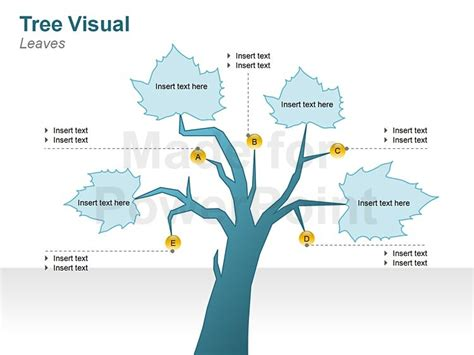 tree diagram template graphic tree diagrams editable ppt slides