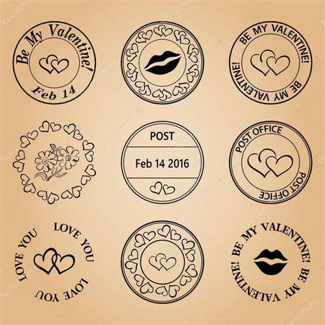 imagenes vintage de sellos sellos postales para el d 237 a de san valent 237 n vector