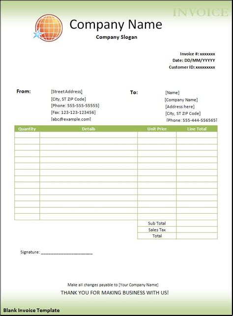 free invoice templates for word blank invoice template new calendar template site