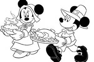 Mickey Thanksgiving Coloring Pages mickey mouse thanksgiving printable coloring pages happy