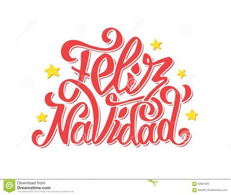 feliz navidad lettering merry christmas  stock vector image