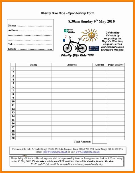 blank sponsorship form template best sles templates