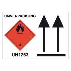 Verpackung Aufkleber Oben by Kombi Aufkleber Quot Klasse 3 Oben Umverpackung Un 1263