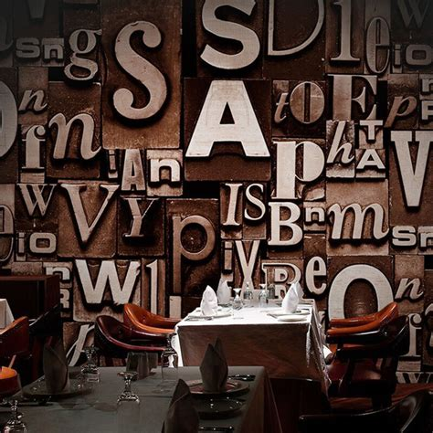 embossed english words textured letters wallpaper