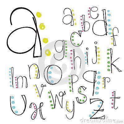 Creative Lettering Journaling Font Alphabet Letter Lettering Script Vector