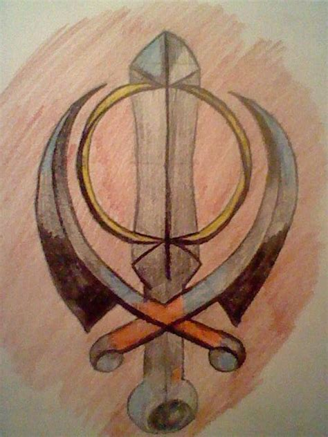 sikh khanda tattoo design by skylarharmonia on deviantart