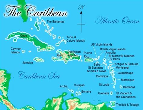 map of the caribbean islands island caribbean islands map