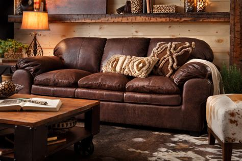 Rustic Livingroom Furniture Colton Sofa Rustic Living Room By Sofa Mart