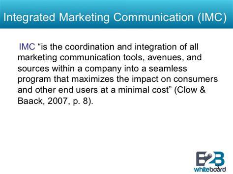 Integrated Marketing Communication Mba Syllabus by The Of Integrated Marketing Communications