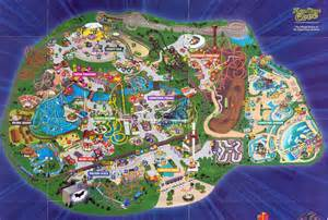 Six Flags Great America Map by Great America Map