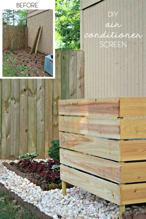 Design Your Own Deck Home Depot by How To Hide An Air Conditioning Unit The Ugly Duckling House