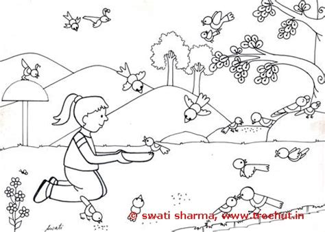 feeding ducks coloring page bird coloring pages