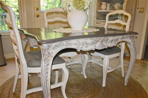 Custom painted french country antique table eclectic kitchen atlanta by vintage fine
