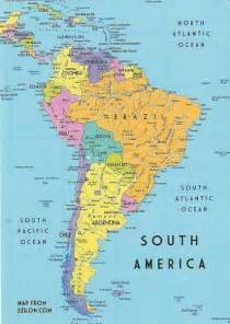 map of south america travel