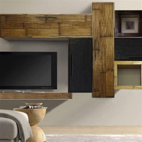 soggiorno sospeso mobile etnico parete soggiorno moderno sospeso in legno e