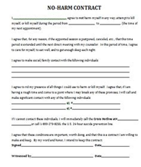 contract for safety template 1000 images about therapy worksheets on