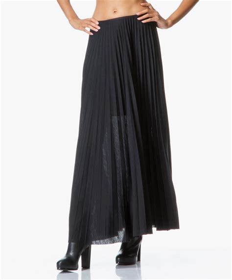 theory miklo pleated jersey skirt black miklo