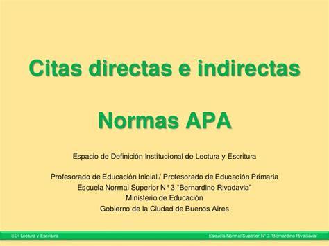 preguntas directas e indirectas que es citas directas e indirectas normas apa