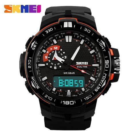 Jam Tangan Skmei Casio Led Ad1110 Blackblue skmei jam tangan sport pria ad1081 black orange