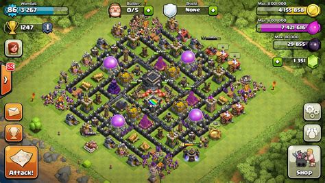 coc layout simulator th9 war base no xbows 2015 gameonlineflash com