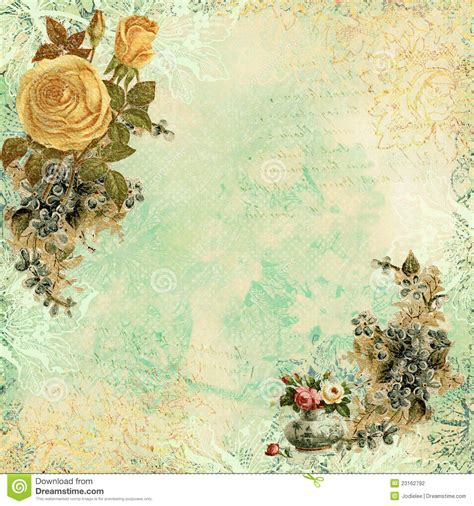 vintage shabby chic l vintage shabby chic background with flowers stock