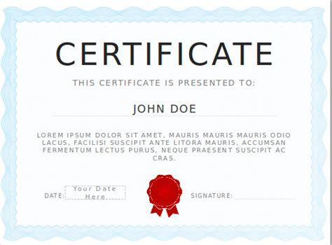 Free Certificate Templates For Powerpoint