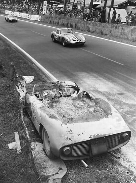 Le Mans 1963. Ferrari 250 P Surtees-Mairesse. Incendie