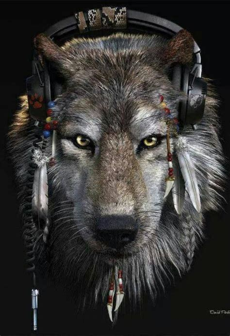 Headphone Warwolf timber wolf headphones cool stuff wolves timber wolf and headphones