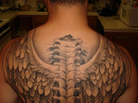 angel wings back tattoo wing tattoos for ideas and inspiration for guys