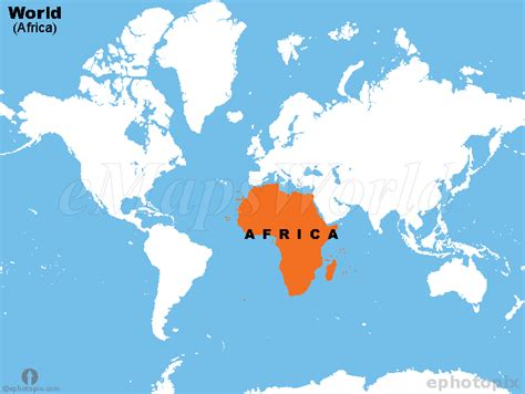 Africa World Map by World Africa Map Africa Continent In World Map