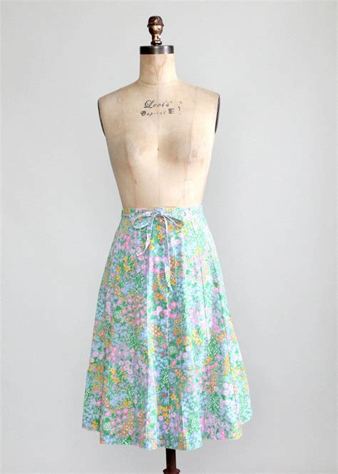 Summer Skrit For Vintage vintage 1970s pastel garden summer skirt raleigh vintage
