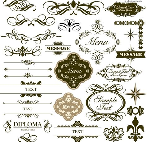 simple pattern border design 4 designer simple pattern border vector material