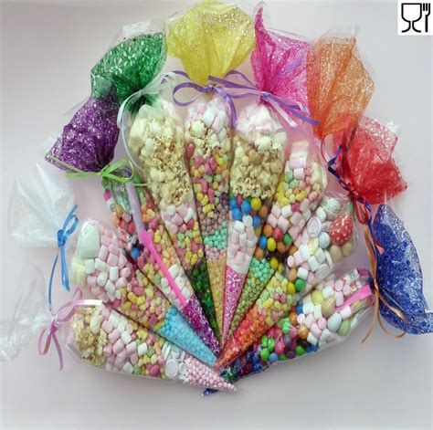Sweet Bag bags clear cone coloured bags cello cellophane sweet display ebay