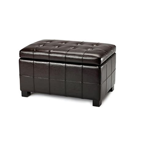 safavieh hudson collection noho tufted leather large storage leather storage benches