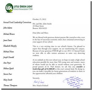 Fundraising Letter Salutation How To Personalize Your Solicitation Letters Green Light
